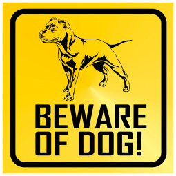 beware of dog skylt beware of dog skylt Beware of dog - Staffordshire bullterrier, amstaff, pibull varning för hunden varning fö