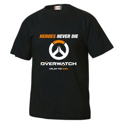t shirt tee barntröja overwatch t-shirt heroes never die i need healing i play to win rolig text present barn fortnite