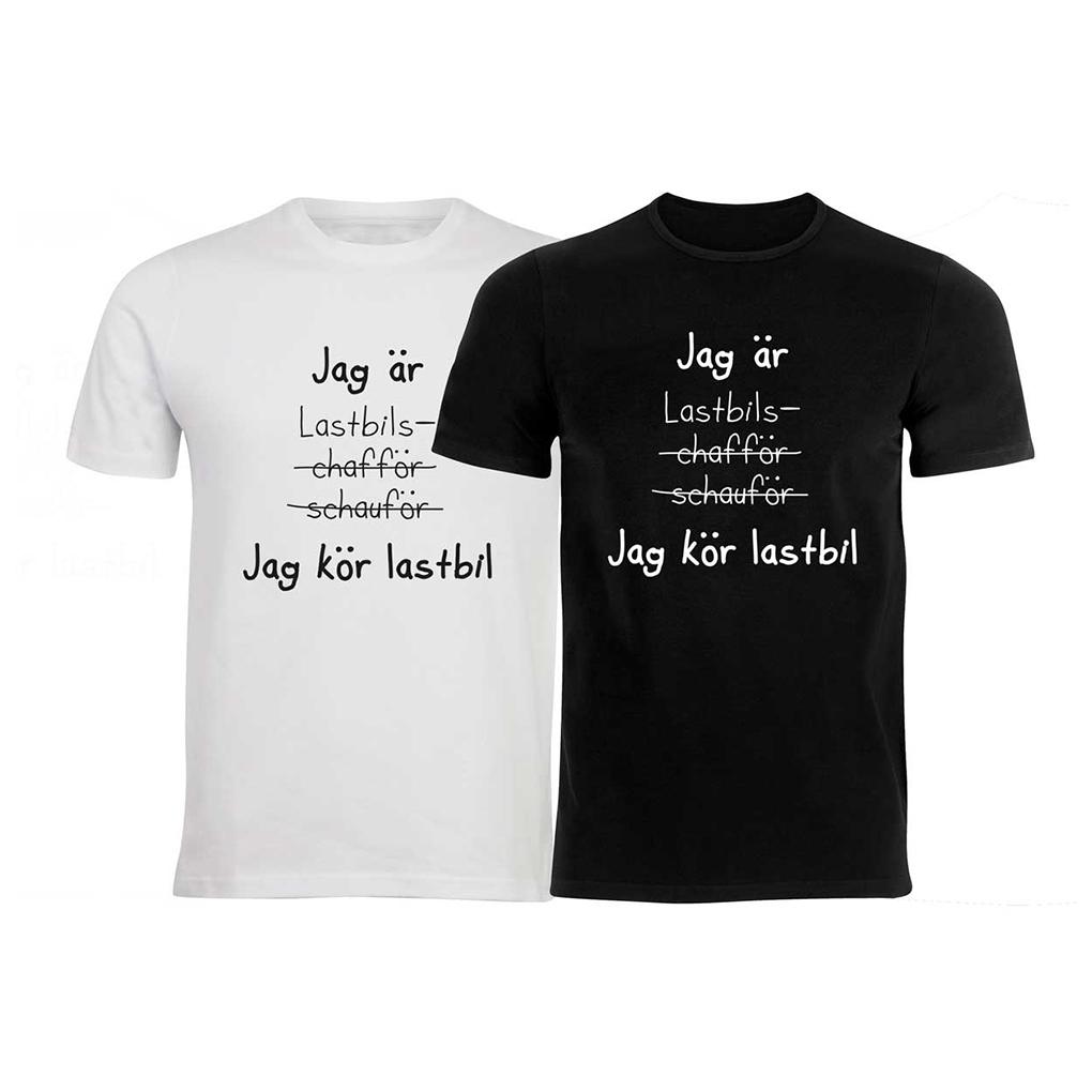 T shirt egen text Vuxen olika färger